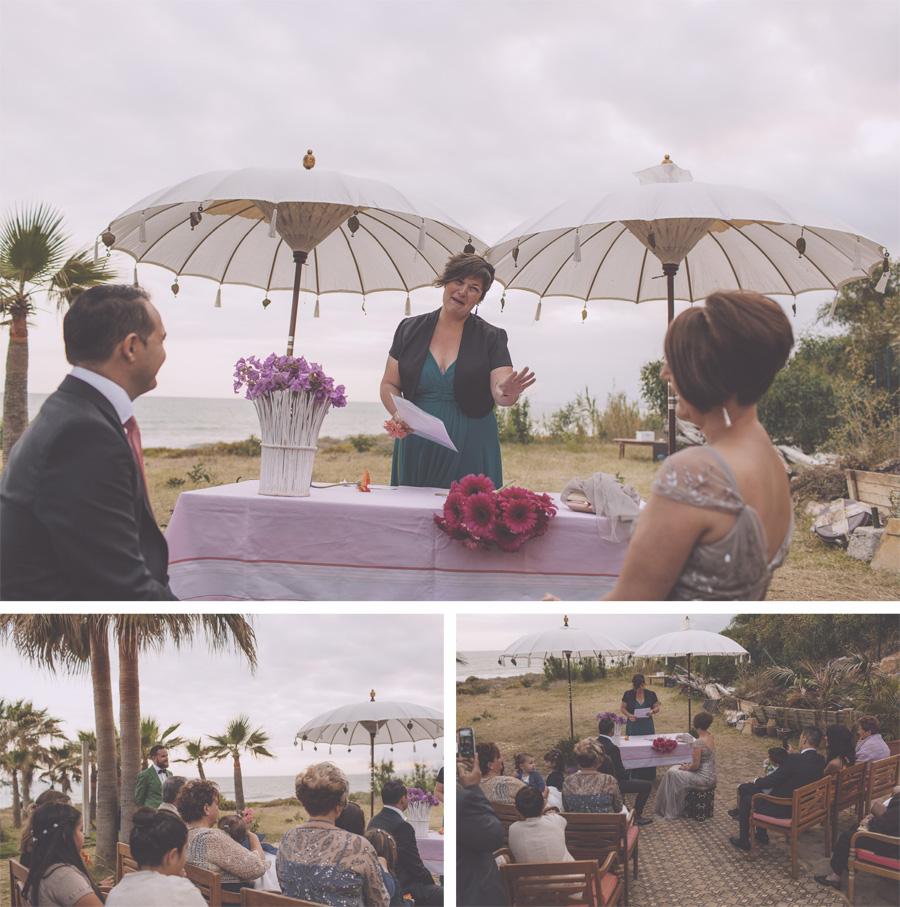 boda playa celebración aire libre