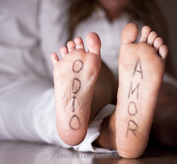 Detalle de la pareja, foto original de los pies