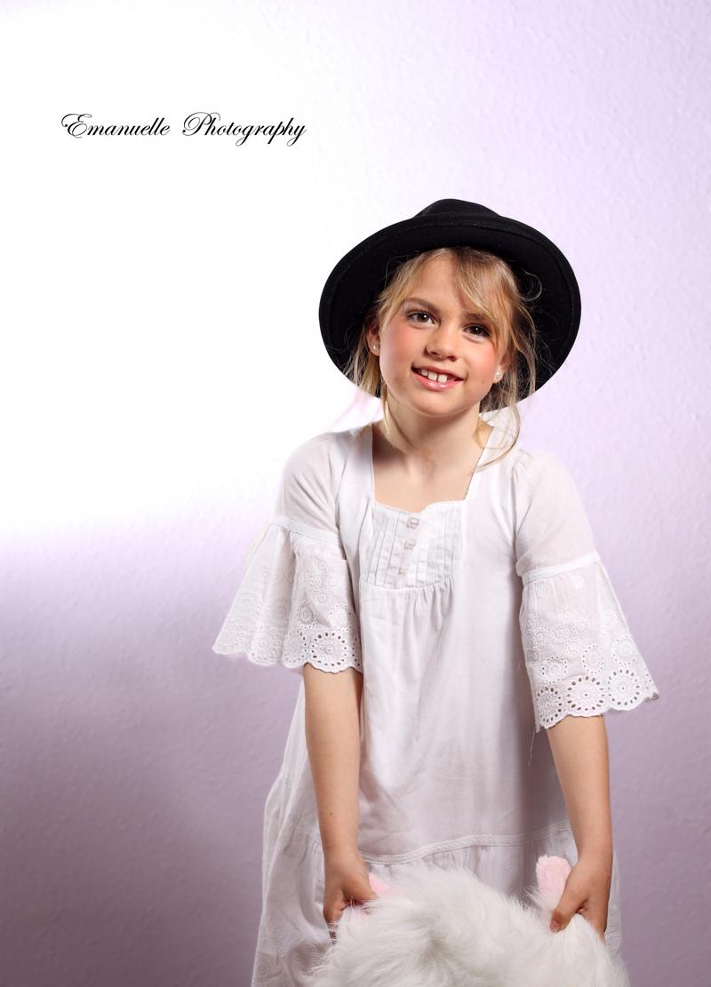 fotografía original de niña para book de moda