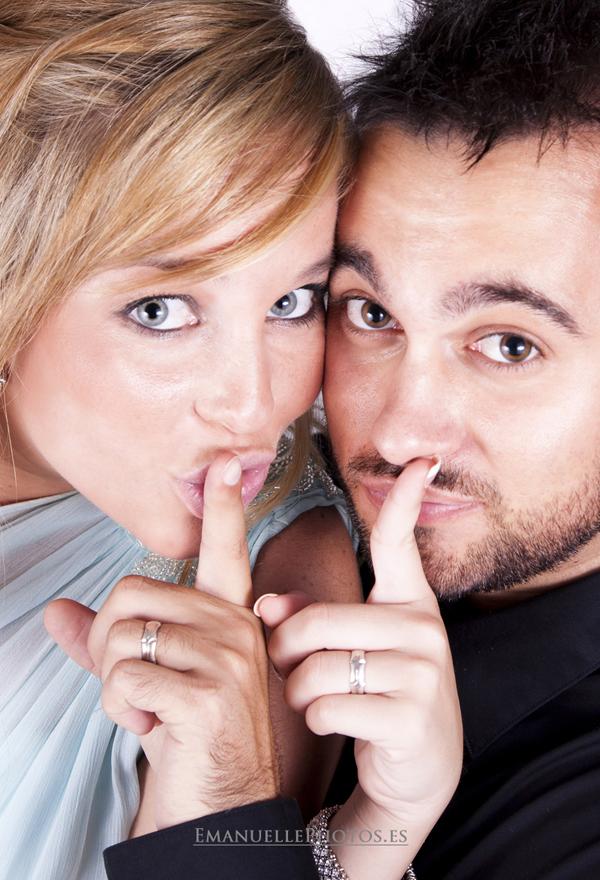 foto de estudio retrato original de la pareja en málaga