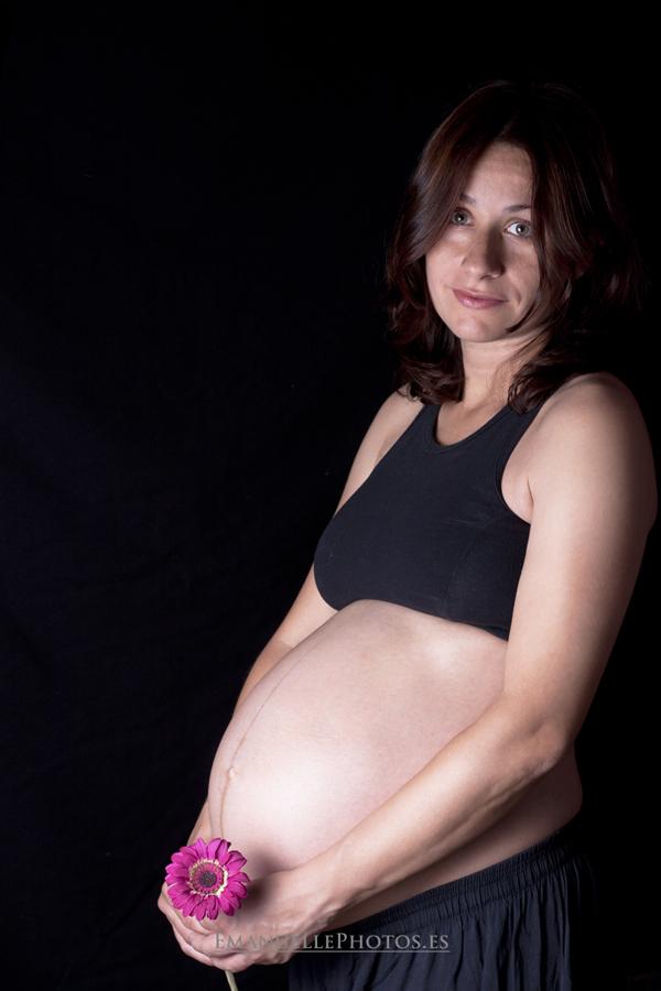 fotografía muy dulce retrato embarazada