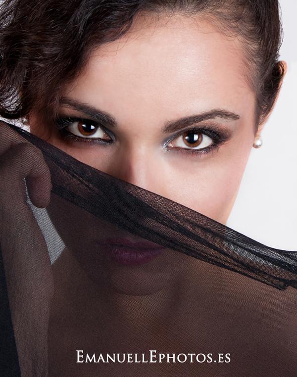 Reportaje de moda, primer plano ojos modelo