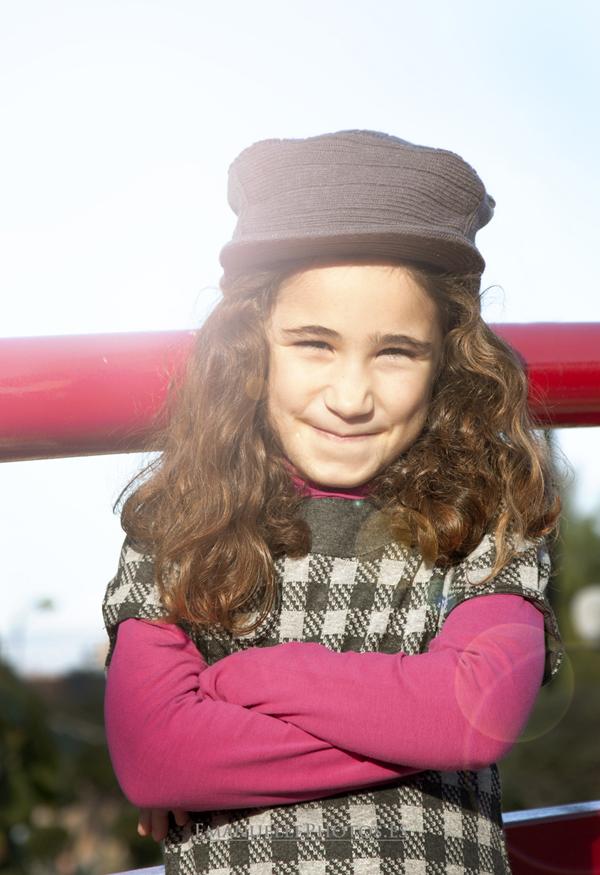Retrato foto book de niña en contraluz málaga