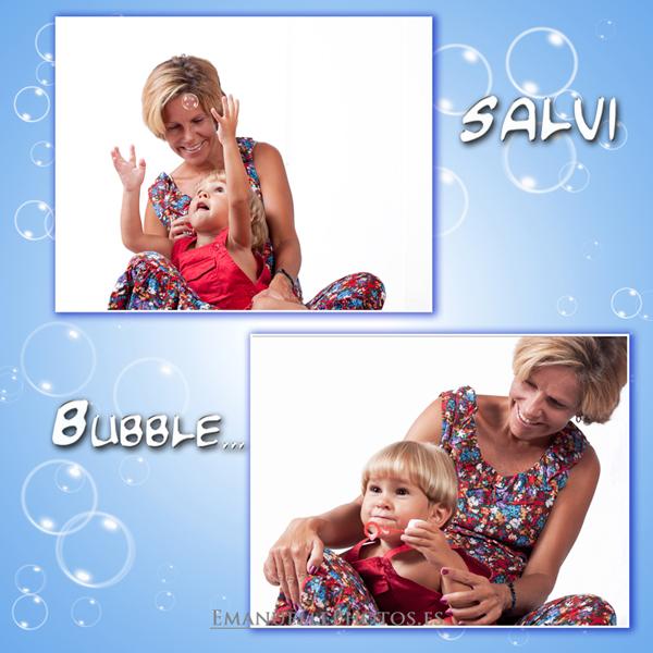 Foto del pequeño Salva con su mama