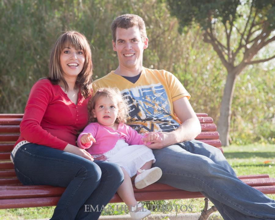 Foto en familia para book en málaga