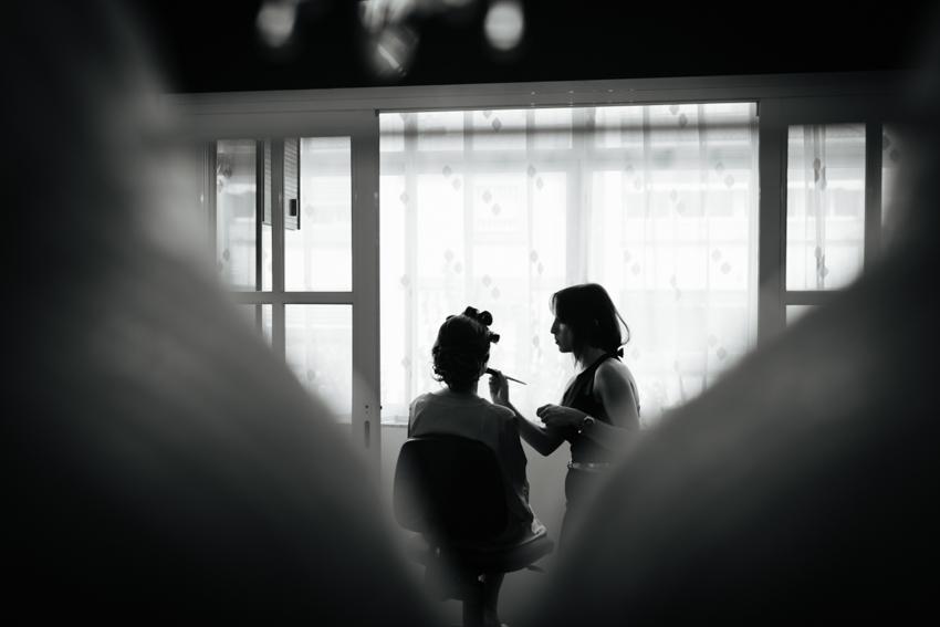 Preparativos de la novia en malaga