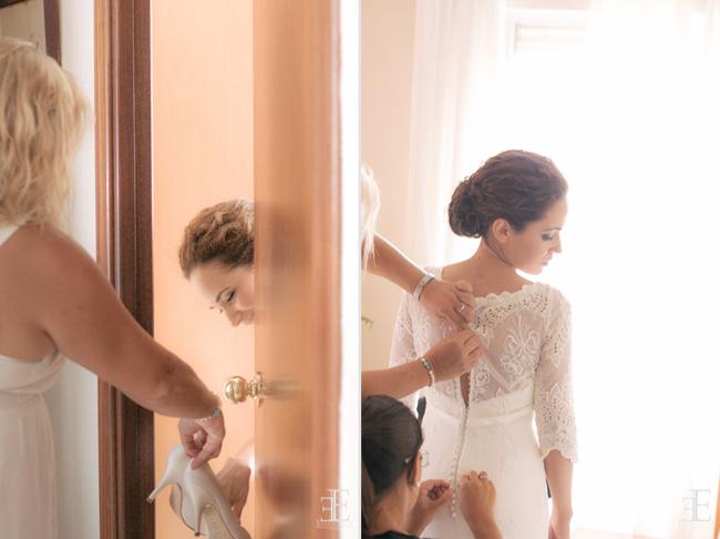 franc sarabia detalle de la novia durante vestido de boda malaga