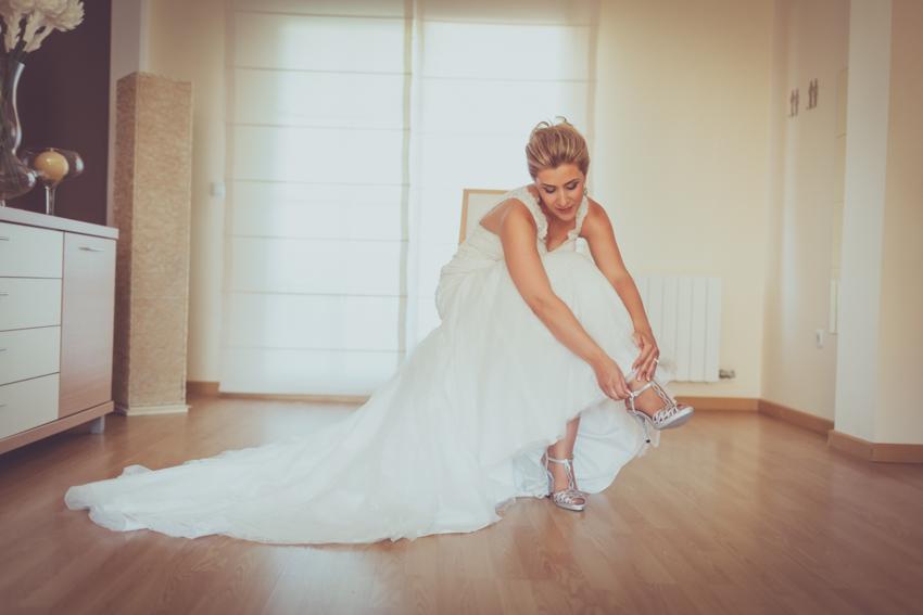 momento de los zapato de novia
