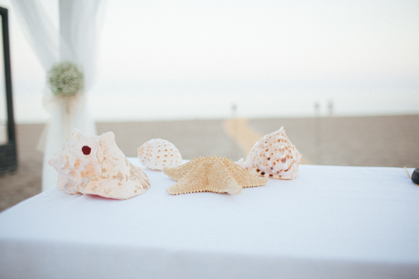 altar decorado con conchas natuales