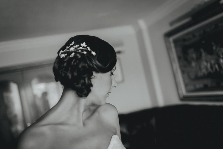 retrato de novia fotografía artística de boda