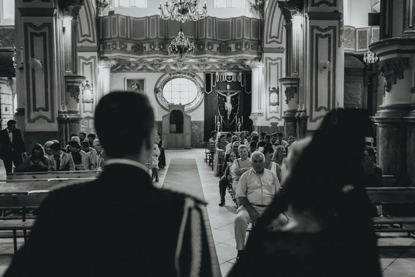 ceremonia iglesia de Santiago Apóstol, en el centro de Málaga