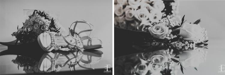 zapato de novia y ramo