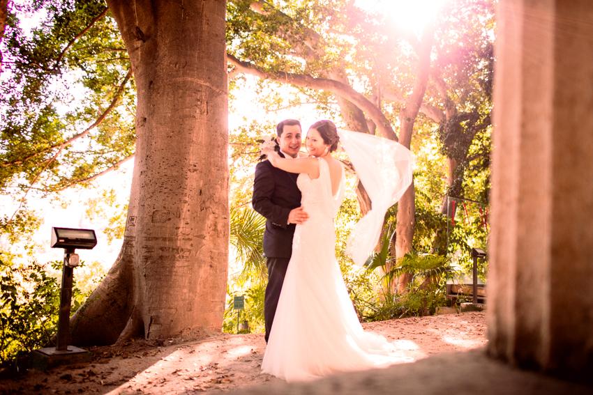 fotografía romántica de boda en malaga