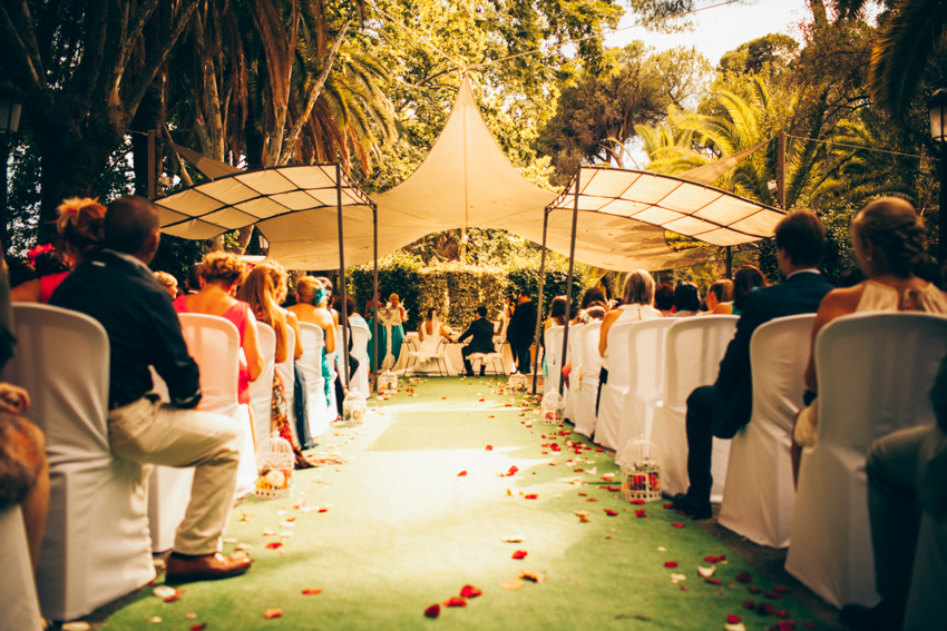celebración el el jardin botanico de malaga