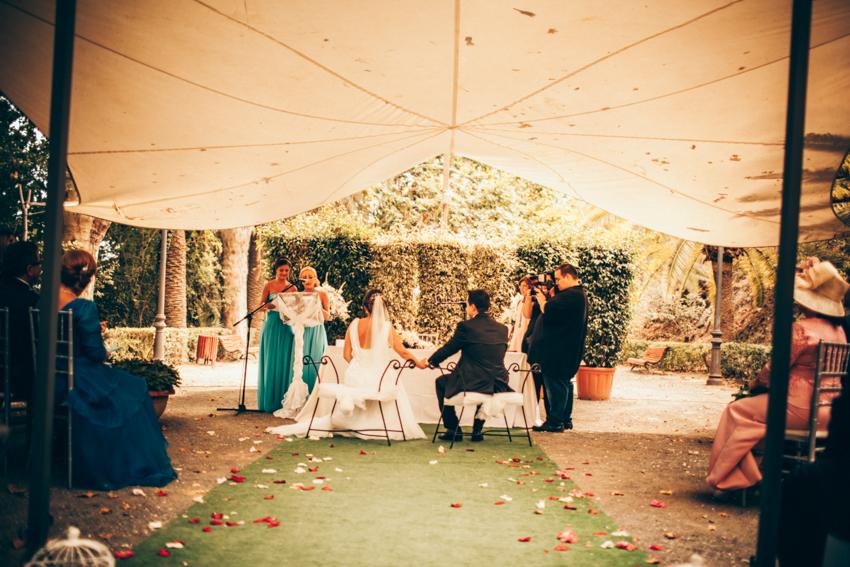jadrín historico de la concepción boda al aire libre
