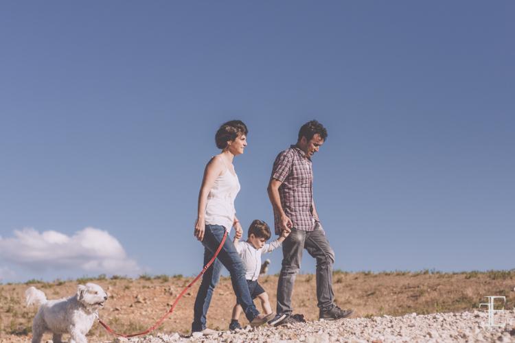 reportaje en familia en el campo