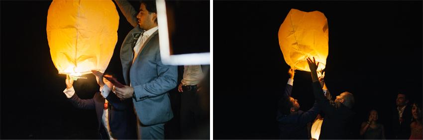 farolillo luminoso en la boda